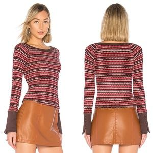 NWT Free People Striped Donna Top